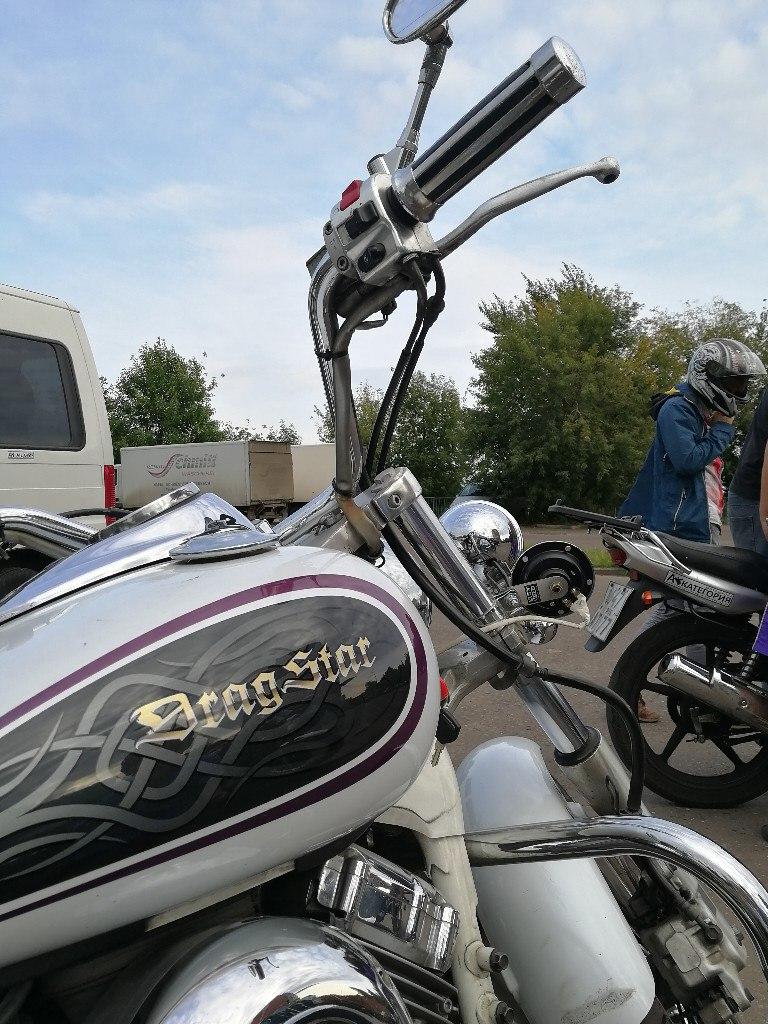 Практический курс на чоппере - Yamaha drag star 400.